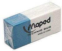 Ластик Maped TECHNIC DUO 2в1 для карандаша и чернил, прямоугольный 39х18х12мм, синий-белый