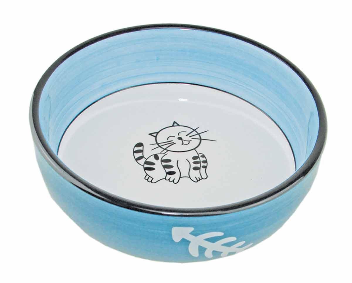 Миска керамическая Довольный кот