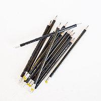 Черно-графитовый карандаш, Yalong HB, дерево, с ластиком, трехгранный, заточенный, 2,0 мм