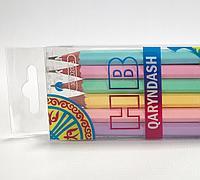 Набор черно-графитных карандашей, AKTAN HB, дерево, с ластиком, трехгранный, заточенный, 2,0 мм