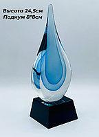 """Награда из стекла """"капля голубая"""". Эксклюзивное предложение!"""