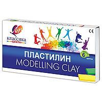 Пластилин классический ЛУЧ «Классика», 6 цветов, 120 г, со стеком, картонная упаковка