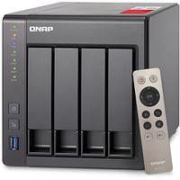 Дисковая системы хранения данных СХД Qnap Сетевой RAID-накопитель, 4 отсека для HDD, HDMI-порт. Intel Celeron
