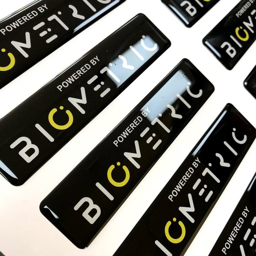 Обьемные наклейки с логотипом компании на заказ - фото 2