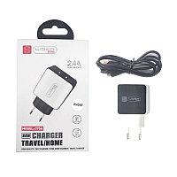 Зарядное устройство Lider Mobile Dual USB port C75A 2.4A + 1m USB-C кабель для apple