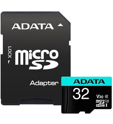 MemoryCard microSDHC 32GB, ADATA AUSDH32GUI3V30SA2-RA1, Class 10, + adapter SD