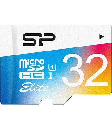 MemoryCard microSDHC 32GB, Silicon Power SP032GBSTHBU1V20, Class 10