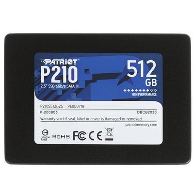 SSD-накопитель Patriot Memory P210 P210S512G25