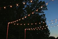 Белт-лайт гирлянды для летних площадок, кафе, гирлянда belt light, ретро гирлянда.
