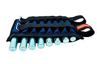 Утяжелители для ног и рук 2x4 кг, синий (металл, 16x500 г)