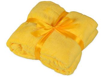 Плед мягкий флисовый Fancy, желтый
