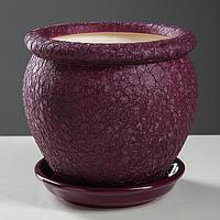 """Горшок для цветов """"Вьетнам"""", шёлк, фиолетовый, 1,5 л"""