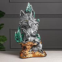 """Статуэтка """"Волки семья """", разноцветная, 40 см"""
