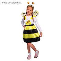 Карнавальный костюм «Пчёлка Жужа», сарафан, ободок, крылья, р. 32, рост 122-128 см