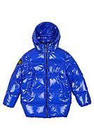 Детская для мальчиков зимняя синяя куртка Bell Bimbo 193031 василек 140-72р.