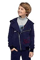 Детский для мальчиков осенний трикотажный синий жакет Bell Bimbo 192185 т.синий 134-68р.