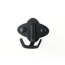 Крючок для ванной черный Gloria KR001