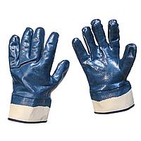 Перчатки рабочие нитриловые, полное покрытие, манжета прямая