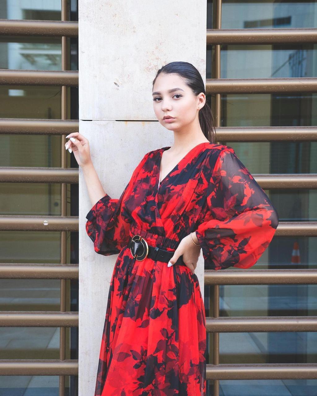 Шифоновое платье (вечернее, 2021) - фото 2