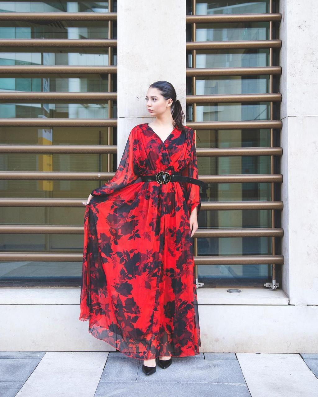 Шифоновое платье (вечернее, 2021) - фото 3