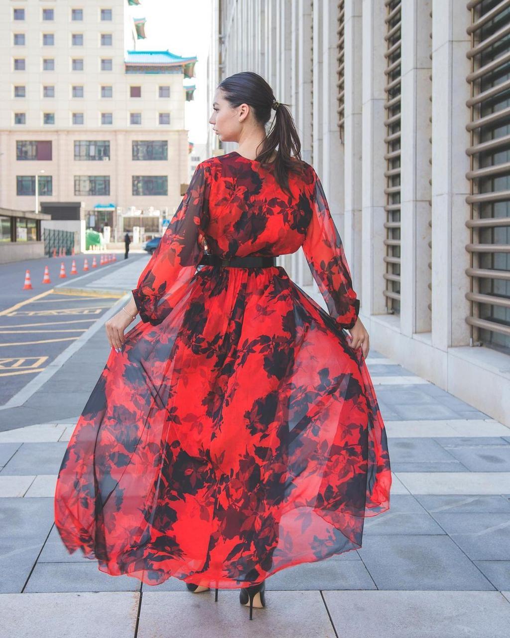 Шифоновое платье (вечернее, 2021)