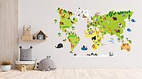"""Наклейки на стену """"Карта Мира"""""""