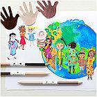 """Карандаши цветные Faber-Castell """"Дети мира"""", 24цв., трехгран, заточ.+6цв., карт. упак., фото 2"""