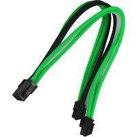 Удлинитель Nanoxia 8-pin EPS, 30см, зеленый, белый, черный