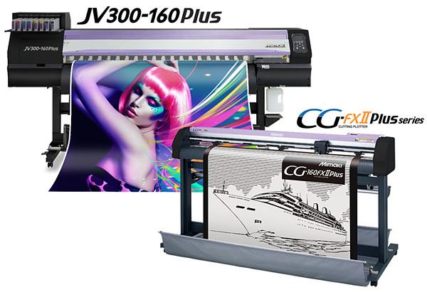 Mimaki JV300-130/160 Plus: высокоэффективный комплекс «плоттер JV300 Plus + каттер CG-FXII Plus»