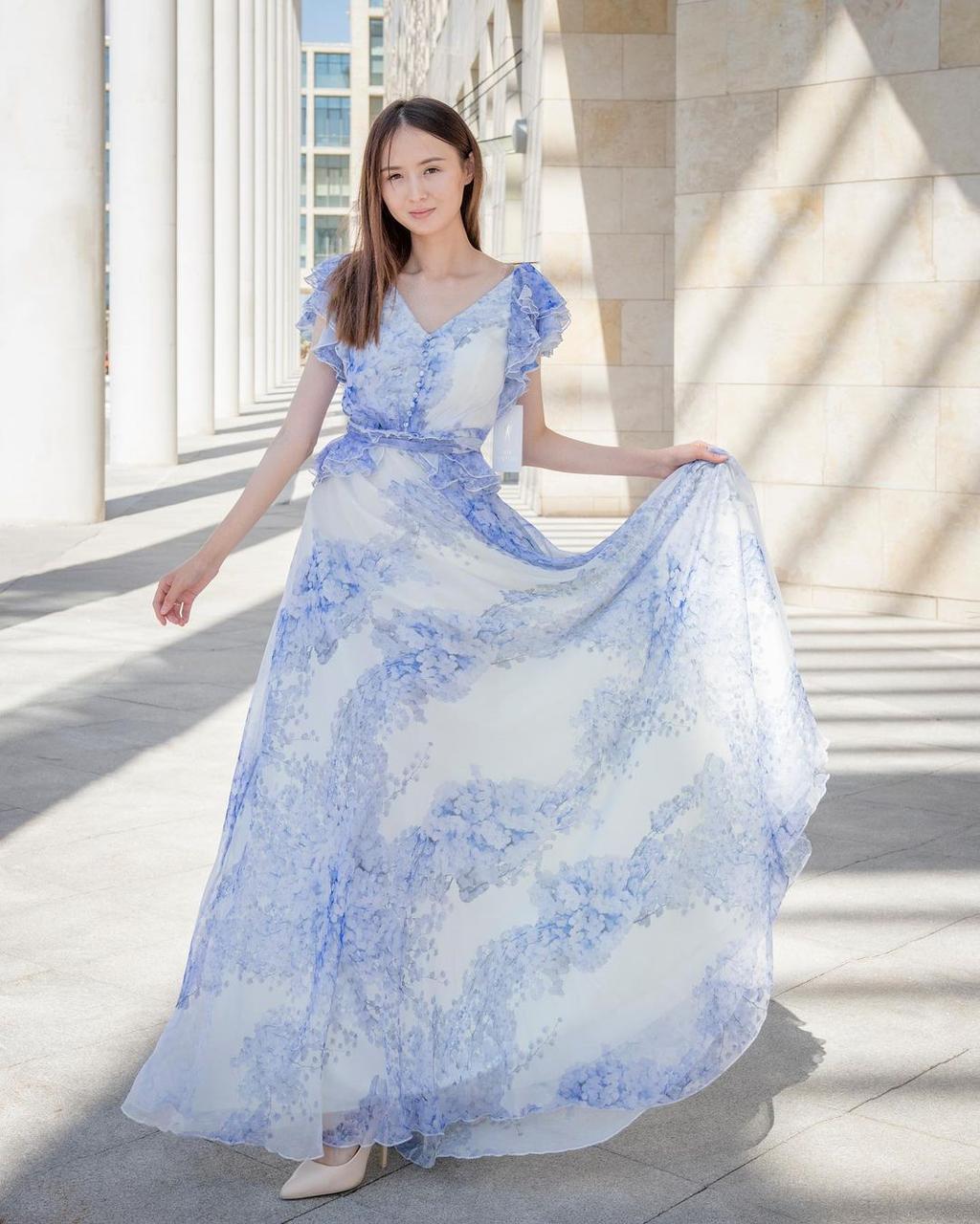 Кружевное-шифоновое платье (summer collection)