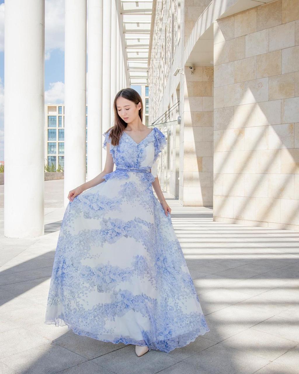 Кружевное-шифоновое платье (summer collection) - фото 2