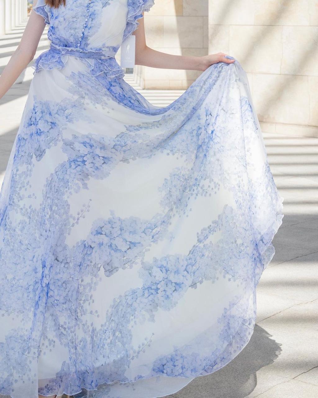 Кружевное-шифоновое платье (summer collection) - фото 3