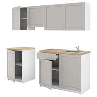 Кухня, КНОКСХУЛЬТ, серый 240x61x220 см ИКЕА, IKEA