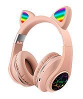 Bluetooth гарнитура M2. Светящиеся ушки кошки наушники с микрофоном