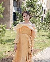 Кружево и шифон с эффектом блеска (вечернее платье), фото 1