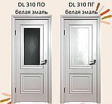 Дверь DL310 Стекло, цвет Белая эмаль, фото 2