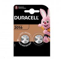 Батарейки Duracell дисковые CR2016, 3V, 2,5*20 мм, 2 шт.,