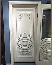 Дверь DL515 Глухая, цвет Белое дерево серебро