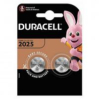 Батарейки Duracell дисковые CR2025, 3V, 2,5*20 мм, 2 шт.
