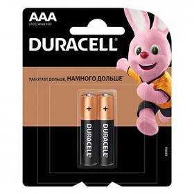 Батарейки Duracell мизинчиковые AAA LR03/MN2400, 1.5 V, 2 шт./уп