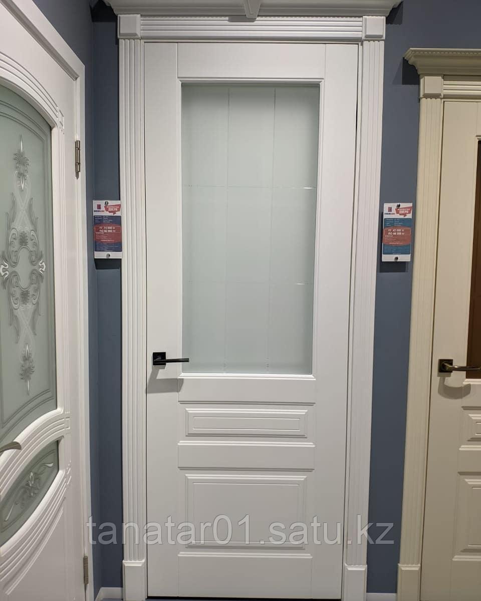 Дверь DL255 Стекло, 2,2м, цвет Белая эмаль