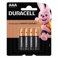 Батарейки Duracell мизинчиковые AAA LR03/MN2400,1.5 V, 4 шт./уп