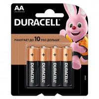 Батарейки Duracell пальчиковые AA LR6/MN1500, 1.5 V, 4 шт./уп.