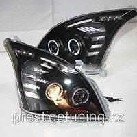 Передние фары на Land Cruiser Prado 120 Angel Eyes 2003-09