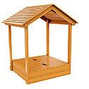 Детская деревянная песочница с крышей, фото 2