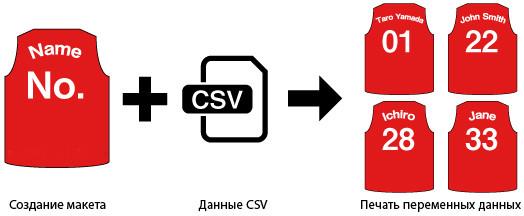 Функция печати переменных данных