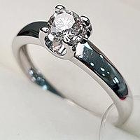 Золотое кольцо с бриллиантами 0.31Сt SI1/K, EX - Cut, фото 1