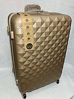 """Большой пластиковый дорожный чемодан на 4-х колесах"""" AS BAGS"""". Высота 76 см, ширина 49 см, глубина 31 см., фото 1"""