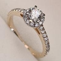 Золотое кольцо с бриллиантами 0,71Сt SI2/L EX-Cut