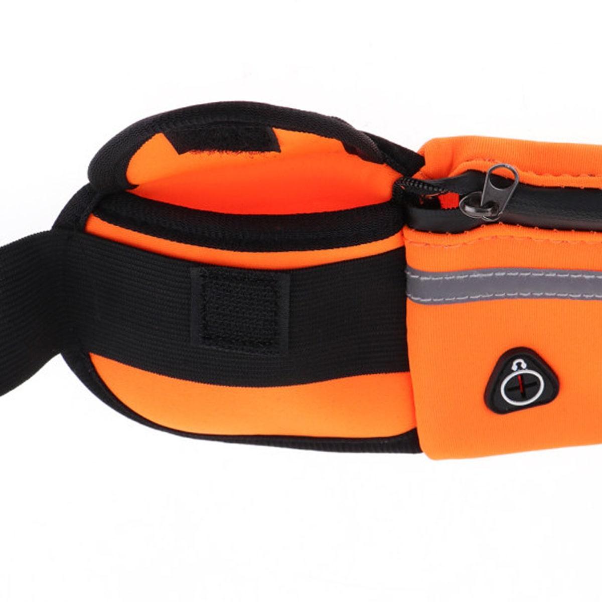 Сумка спортивная поясная для телефона оранжевая - фото 6
